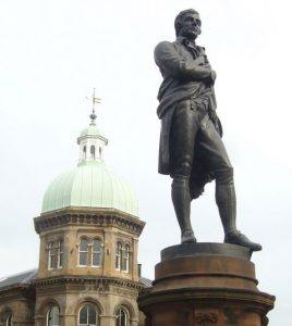 Robert-Burns statue, Bernard St. Leith
